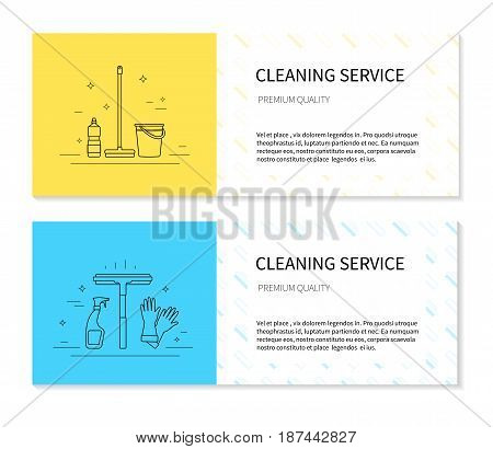 Vector set of flayers for cleaning services
