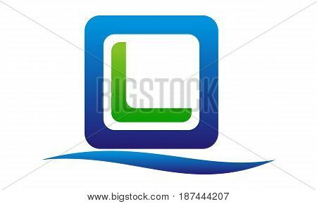 This image describe about Modern Logo Solution Letter O L Beach