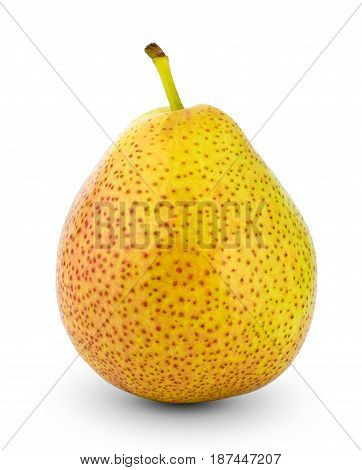 Pears isolated on white background, close up