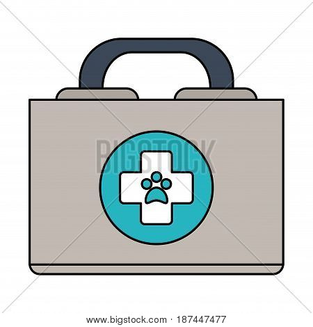 color image cartoon medical veterinary bag vector illustration