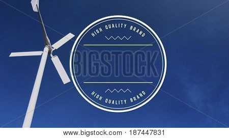 High Quality Brand Badge Banner Copy Space