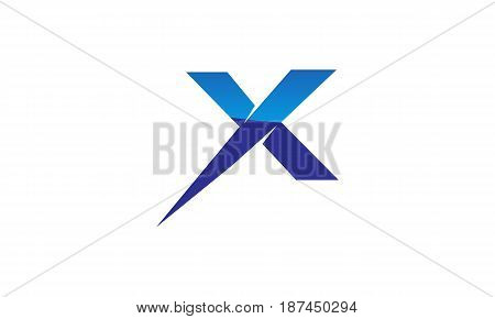 This image describe about Letter X Modern Logo