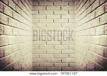 white brick wall, brown toned, abstract background photo