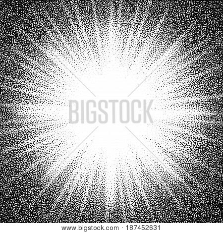 Star burst. Abstract vector black and white halftone background. Eps8. RGB. Global color