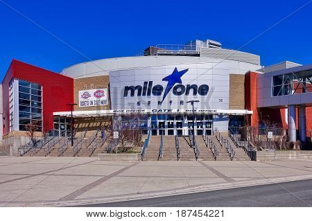 St, John's, Canada, 2017.05.02: The Mile One center in St. John's on Newfoundland in Canada.