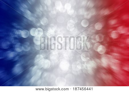 Abstract patriotic red white and blue glitter sparkle background for party invite, July poster, memorial design, president election vote, freedom backdrop, sale, labor day and independence celebration