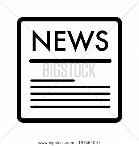 news vector icon. Black and white news illustration. Outline linear icon. eps 10