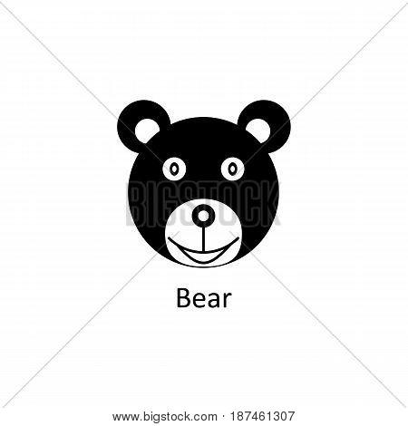 Funny bear icon. Logo template for design, visit card, signage. Vector design