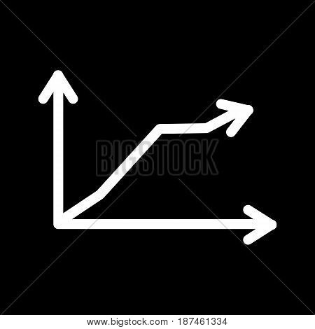 Chart vector icon. Black and white chart illustration. linear schedule icon. eps 10