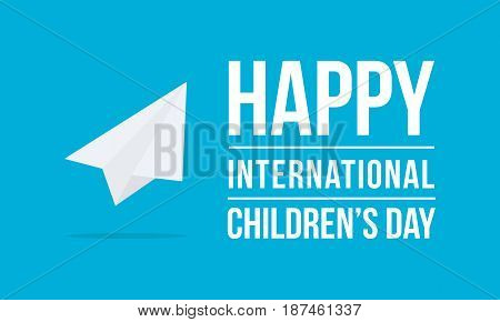 Childrens day vector art background collection stock