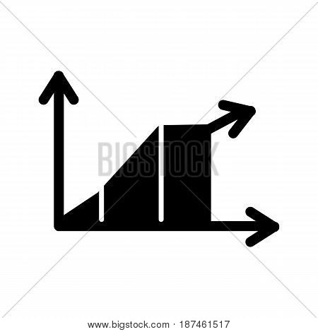 Chart vector icon. Black and white chart illustration. Solid linear schedule icon. eps 10