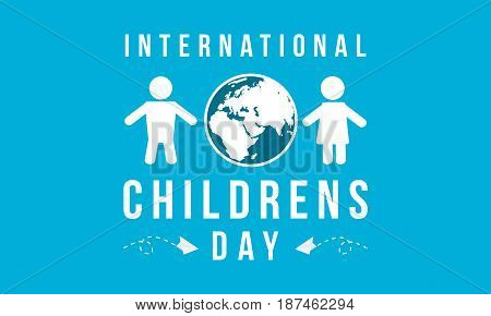 Background childrens day design collection vector illustration