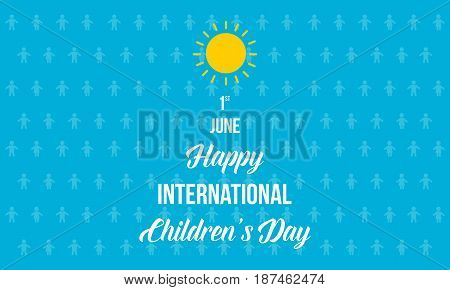 Happy international day background vector art illustration
