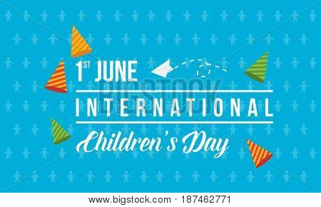 Background childrens day collection stock vector illustration