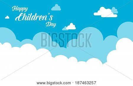 Background cloud design for childrens day vector art