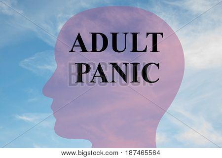 Adult Panic - Mental Concept