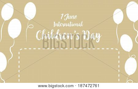 Childrens day background with balloon vector art