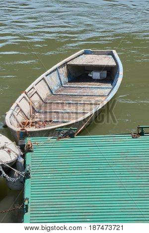 boat at the pier on the river