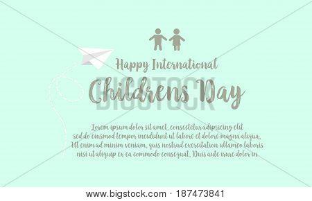 Background childrens day design style vector illustration