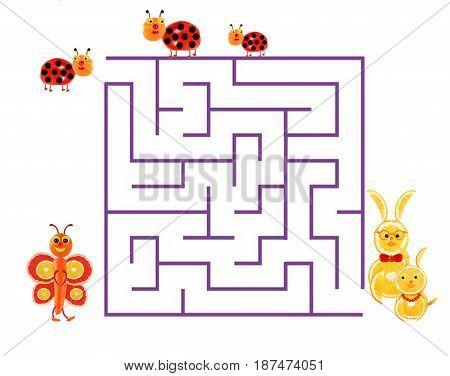 Illustration of logical education for children of preschool age.