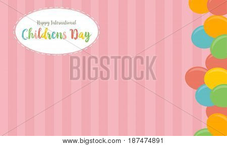 Collection childrens day cute background vector art
