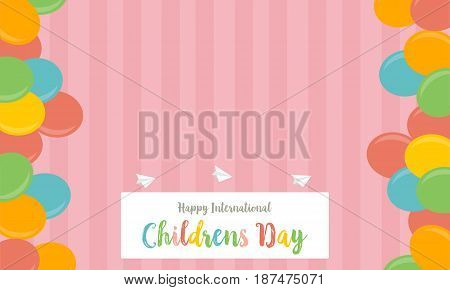 Collection stock childrens day cute background vector art