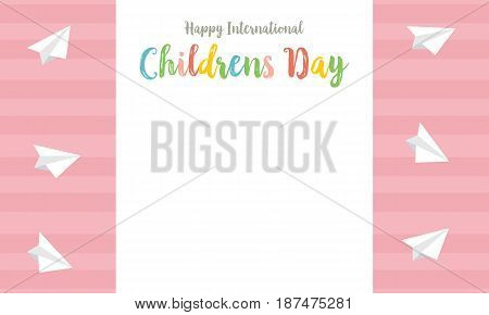 Childrens day style cute card collection vector art
