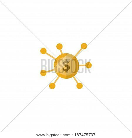 Flat Crowdfunding Element. Vector Illustration Of Flat Financing Isolated On Clean Background. Can Be Used As Financing, Crowdfunding And Joint Symbols.