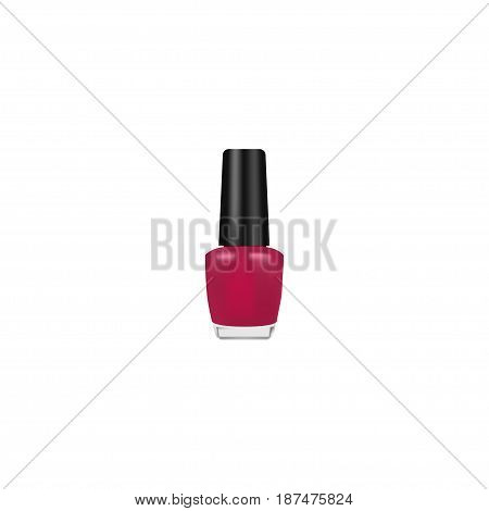 Realistic Nail Polish Element. Vector Illustration Of Realistic Varnish Isolated On Clean Background. Can Be Used As Varnish, Nail And Polish Symbols.