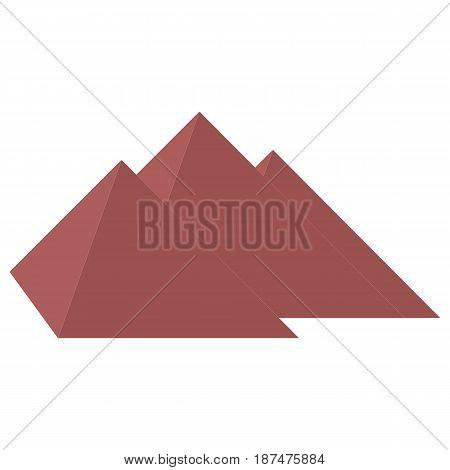 Stylized Icon Three Pyramids