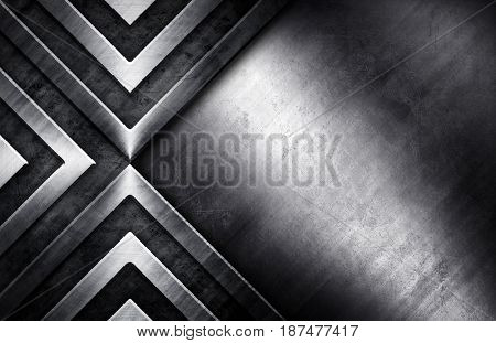 abstract metal template background