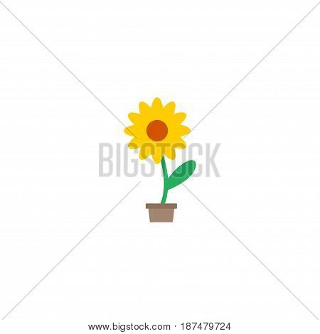 Flat Plant Pot Element. Vector Illustration Of Flat Flowerpot Isolated On Clean Background. Can Be Used As Pot, Flower And Plant Symbols.