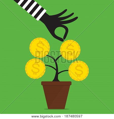 Vector illustration financial investment fraud concept .
