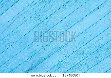 Cracked Weathered Blue Shabby Chic Painted Wooden Board Texture, Front View
