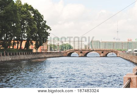 Saint Petersburg RUSSIA - May 17: Niva river. A beautiful city the capital of Russia's cultural heritage