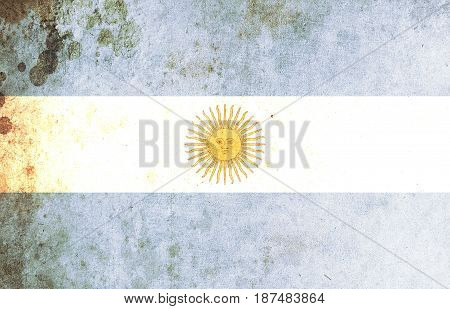 Argentina flag grunge background. Background for design in country flag