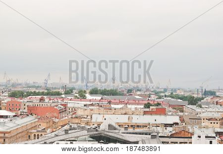 Saint Petersburg RUSSIA - 21 May 2017: Saint petersburg russia top view