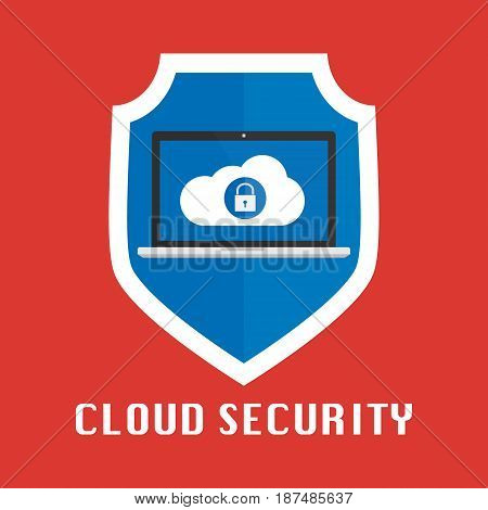 Cloud computing security design. Vector illustration design.