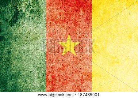 Senegal flag grunge background. Background for design in country flag