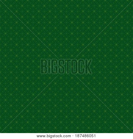 Green seamless abstract pattern in an Arab style