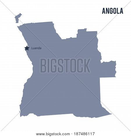 Vector Map Of Angola Isolated On White Background.