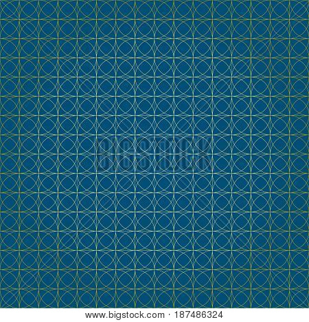 Abstract seamless geometric pattern on a blue background