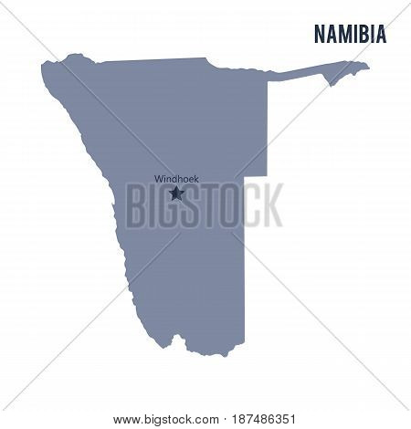 Vector Map Of Namibia Isolated On White Background.