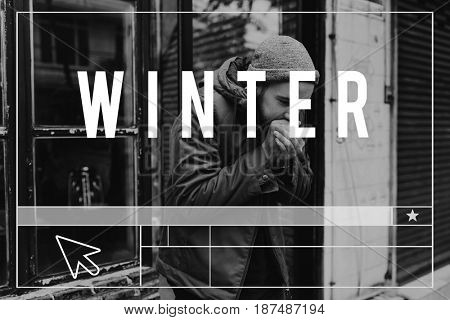 Coldness Winter Weather Season Climate Website Layout Graphic