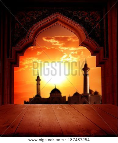 Islamic greeting Eid Mubarak cards for Muslim Holidays.Eid-Ul-Adha festival celebration.