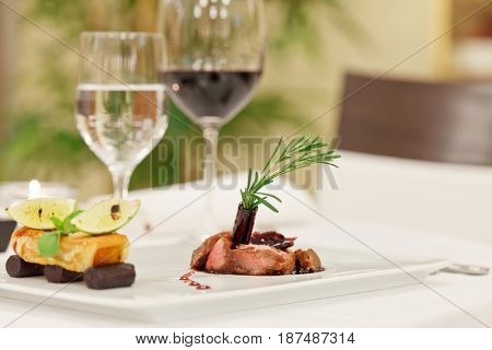 romantic supper