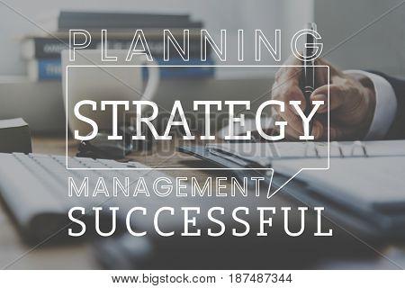 Business Marketing Plan Development Strategy Graphic
