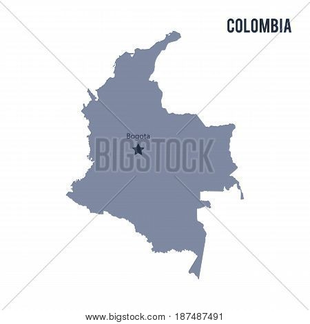 Vector Map Of Colombia Isolated On White Background.
