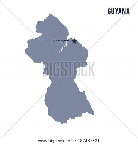 Vector Map Of Guyana Isolated On White Background.