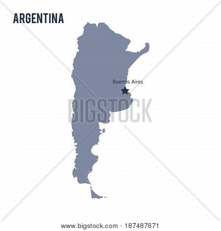 Vector Map Of Argentina Isolated On White Background.